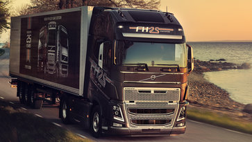 Close up of the Volvo FH 25 Year Special Edition